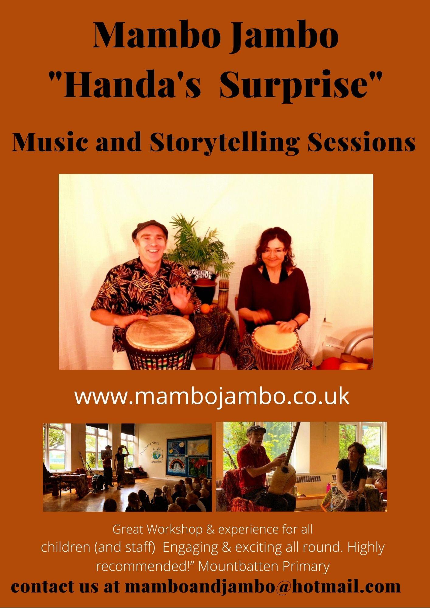 Mambo Jambo Handa's Surprise Music and Storytelling flyer