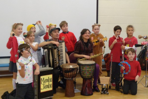 Mambo Jambo Music and Dance Workshops In Primary Schools