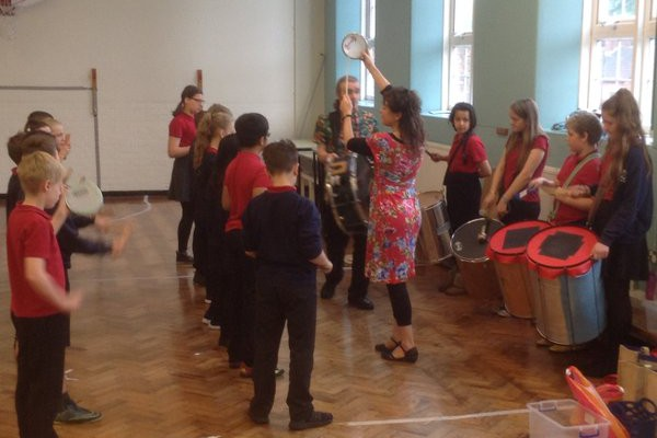 Mambo Jambo Music Samba Drumming Workshops In Primary School